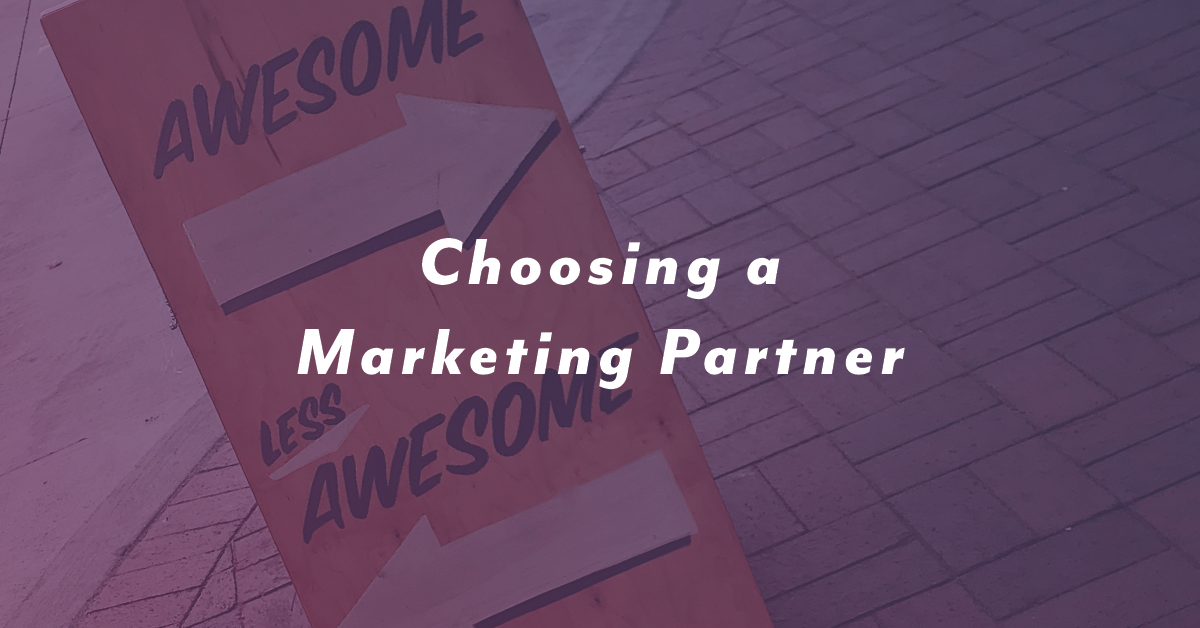 Choosing a Marketing Partner
